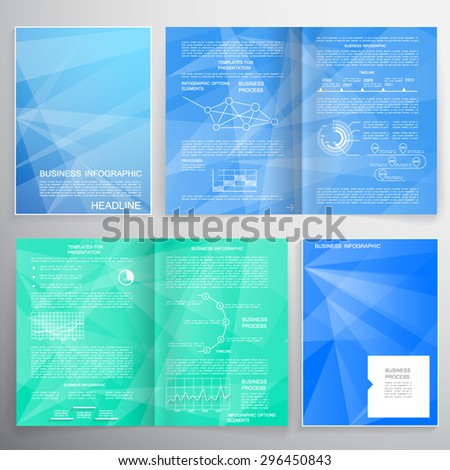 Brochure design for business data visualization - stock vector