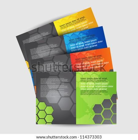 brochure design set - stock vector