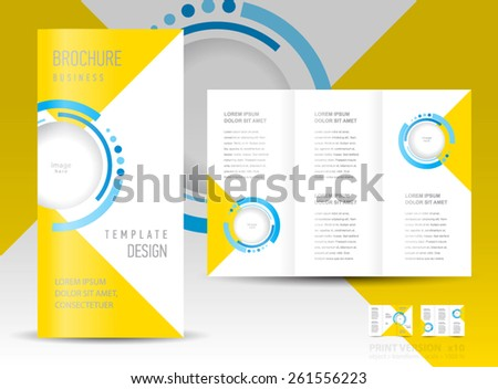 brochure design template abstract circles - stock vector