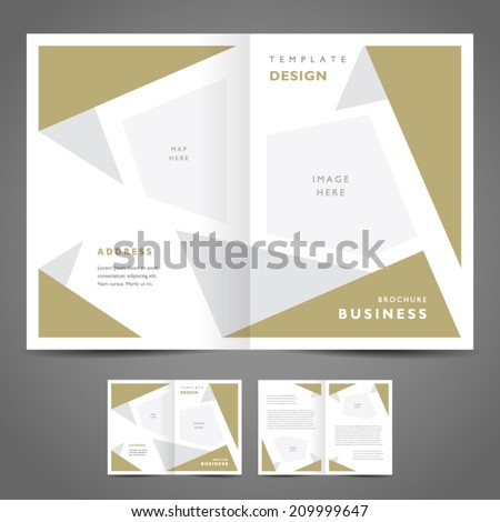 brochure design template abstract figure - stock vector
