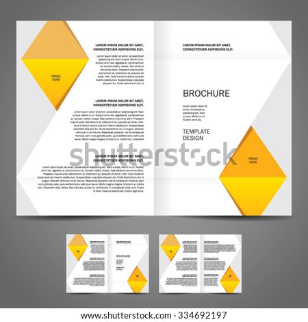 brochure design template booklet vector geometric abstract, cmyk profile - stock vector