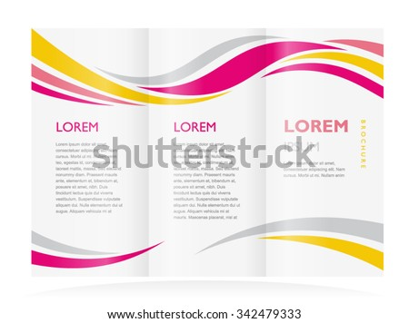 brochure design template curves - stock vector