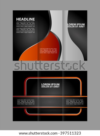 brochure design template frame for images  - stock vector