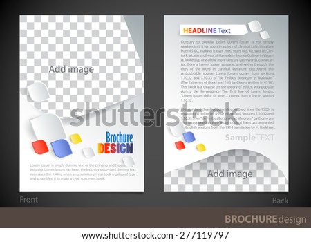 Brochure design template. Proportionally for A4 size - stock vector