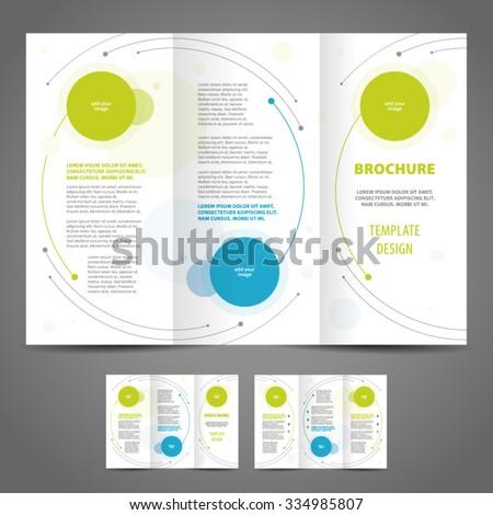 brochure design template rounds - stock vector