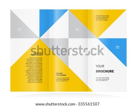 brochure design template triangles - stock vector