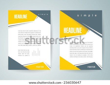 brochure design template vector flyer action abstract, cmyk profile - stock vector