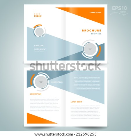 brochure design template vector geometric abstract circle - stock vector