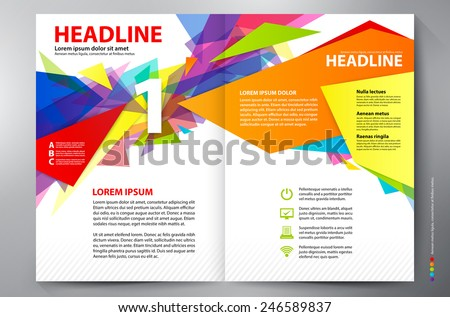 Brochure design two pages a4 vector template - stock vector