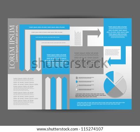 brochure/flyer design - stock vector