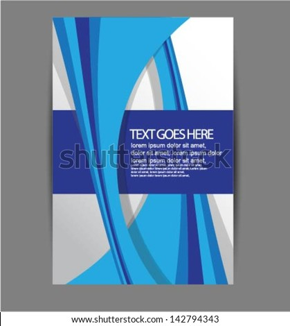 brochure flyer design - stock vector