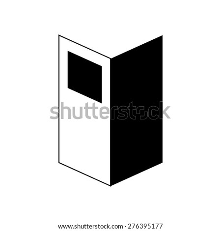Brochure for business publicity symbol icon vector illustration eps10 on white background - stock vector