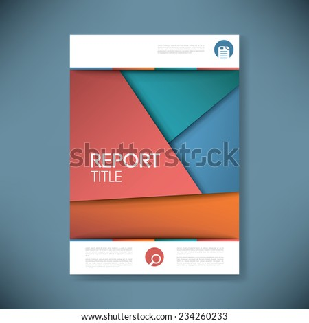Brochure or annual report cover with abstract background and space for your text. Eps10 vector illustration - stock vector