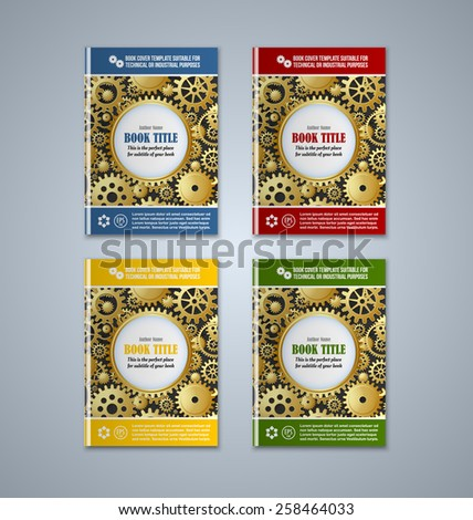 Brochure or book cover templates on grey background - stock vector