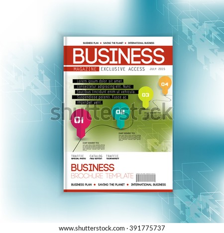 Brochure or magazine cover template - stock vector