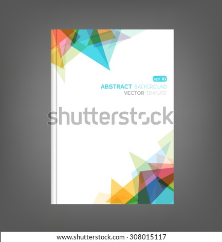 Brochure template, book cover, flyer design - stock vector