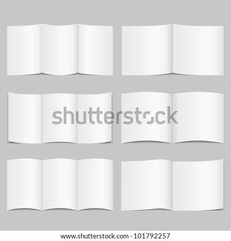 Brochure Templates, vector eps10 illustration - stock vector