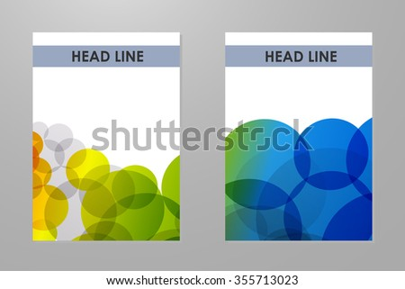 Brochure with colorful rainbow bubbles background. - stock vector