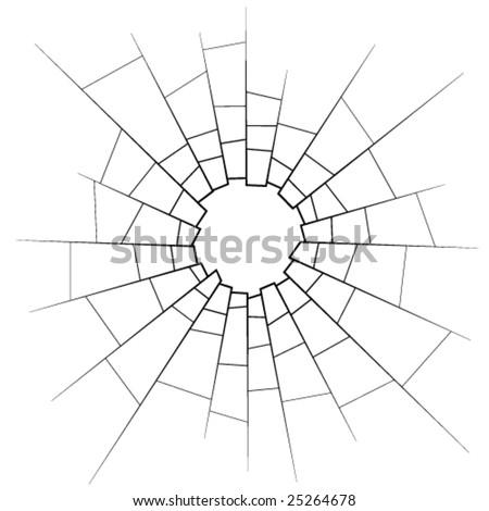 broken glass - stock vector