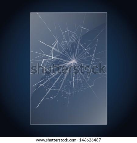 Broken glass. Vector illustration - stock vector