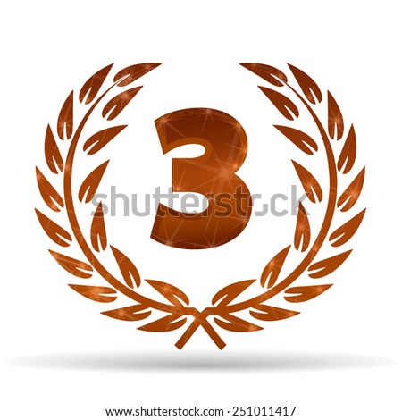 Bronze laurel for third place - stock vector