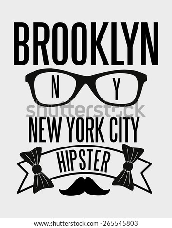 brooklyn hipster club vector art - stock vector