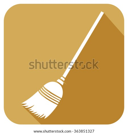 broom flat icon  - stock vector