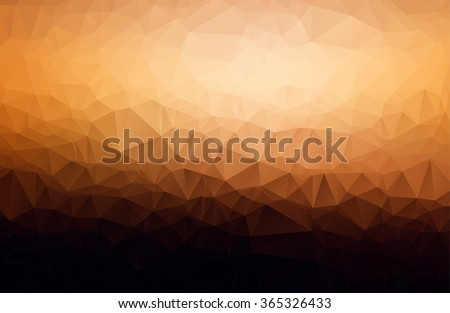 Brown and black Polygonal Mosaic Background, Vector illustration, Business Design Templates - stock vector