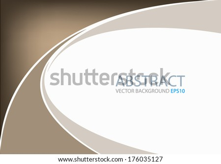 Brown background earth tone graphic curve line for text and message modern web design - stock vector
