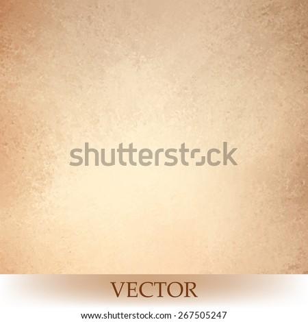 brown beige background vector, light orange or tan color design, vintage grunge texture - stock vector