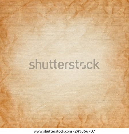 brown canvas with the texture of crumpled paper. grunge background. Vector - stock vector