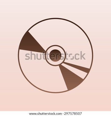 Brown CD or DVD icons  - stock vector
