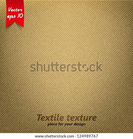 Brown Fabric Texture. Vector - stock vector