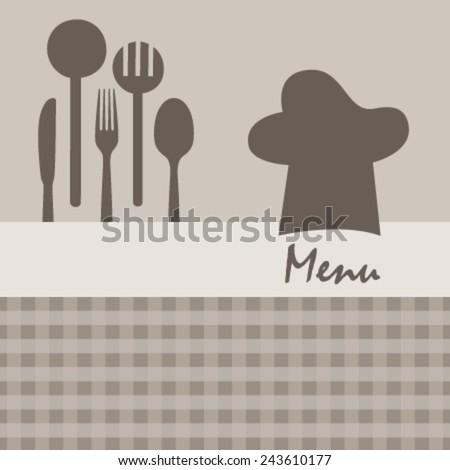 brown kitchen menu - stock vector
