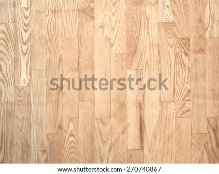 Brown parqueted floor, wooden texture with vertical planks. - stock vector
