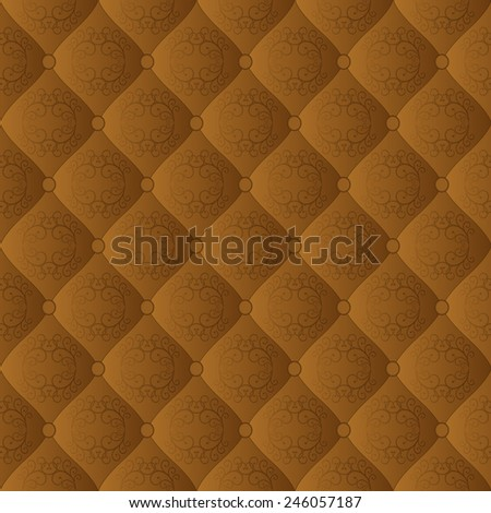 brown  pattern with ornament - stock vector