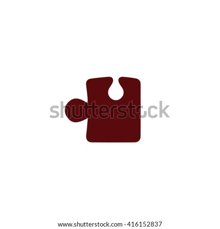 Brown puzzle icon vector illustration. - stock vector