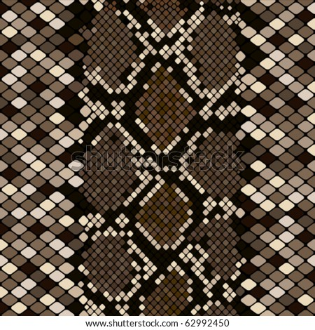 Brown snakeskin - stock vector