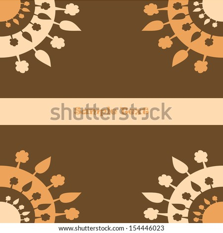 Brown Vector Background with Trees in Mandala Style - stock vector