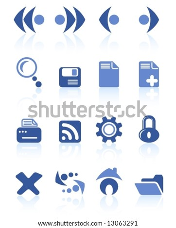 Browser vector icons - stock vector