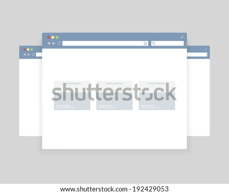 browser windows design for website presentation, vector eps10 illustration - stock vector
