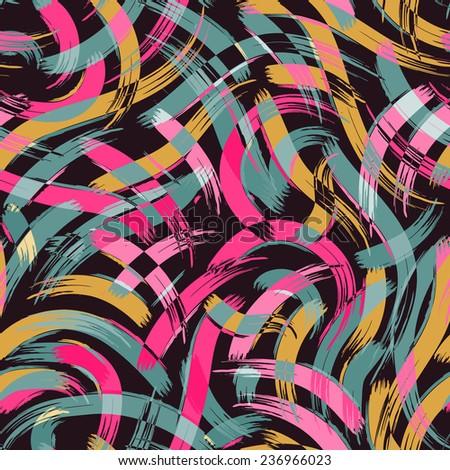 brush stroke artistic seamless pattern - stock vector