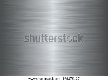 Brushed metal texture abstract background. Vector illustration - stock vector