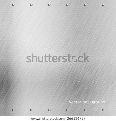 brushed metal texture, vector background, abstract modern iron glass background - stock vector