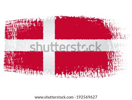 brushstroke flag Denmark - stock vector
