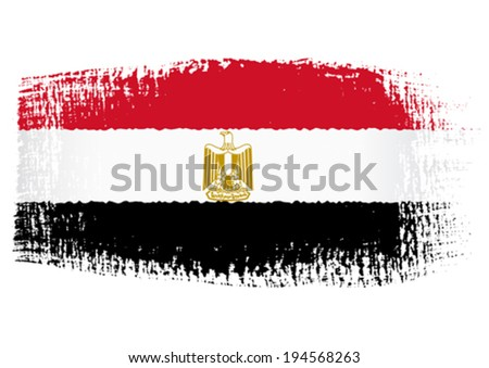 brushstroke flag Egypt - stock vector