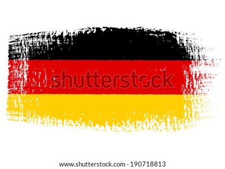 brushstroke flag Germany with transparent background - stock vector