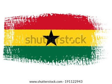 brushstroke flag Ghana - stock vector