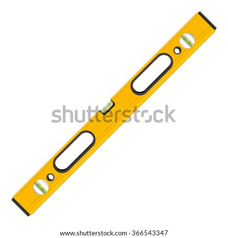 Bubble level tool on a white background. - stock vector