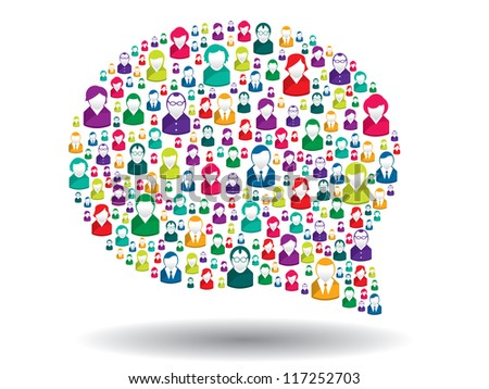 bubble of communication in illustration vector - stock vector
